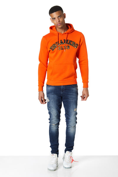 Dreamers Club Pullover Hood, Orange camo