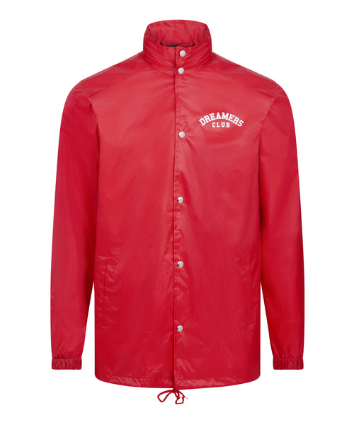 Dreamers Club - Coach Jacket, Red