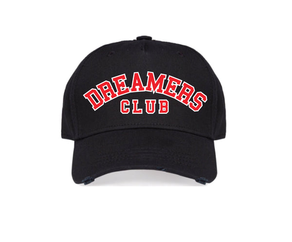 Dreamers Club - 'Members Only' cap, Black (Red)