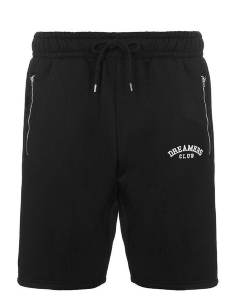 Dreamers Club - Shorts with zip pocket, Black