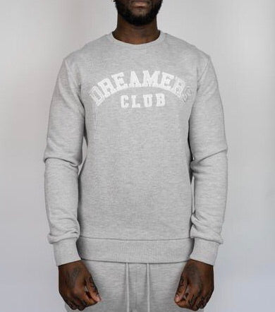 Dreamers Club - Crewneck track top, Cool Grey