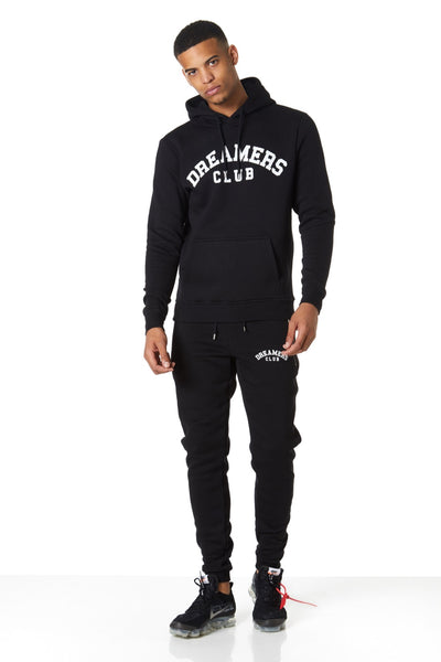 Dreamers Club Pullover Hood, Black
