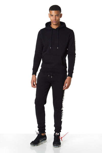 Dreamers Club Panel pullover Hood, Black