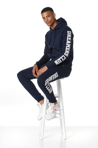Dreamers Club Panel pullover Hood, Navy