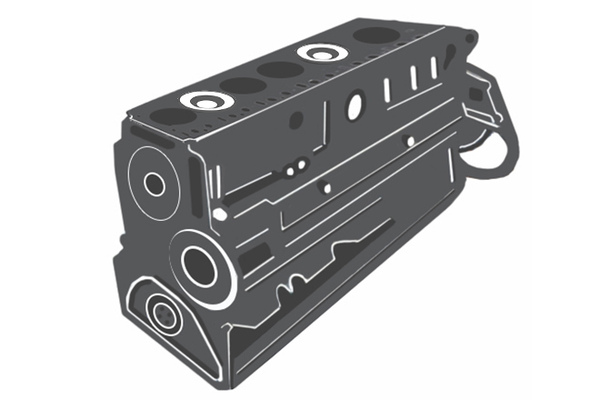 Shortblock without cylinder head / Rumpfmotor (Shortblock) ohne Zylinderkopf