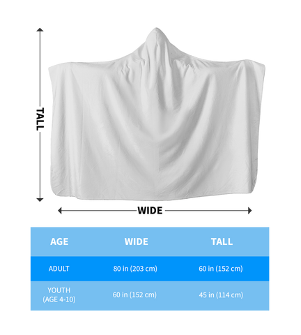 Multicam Hooded Blanket Sizes