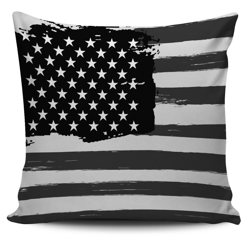Old Glory Pillow Covers Patriot Pillow Case Morale Patch® Armory B&W Distressed