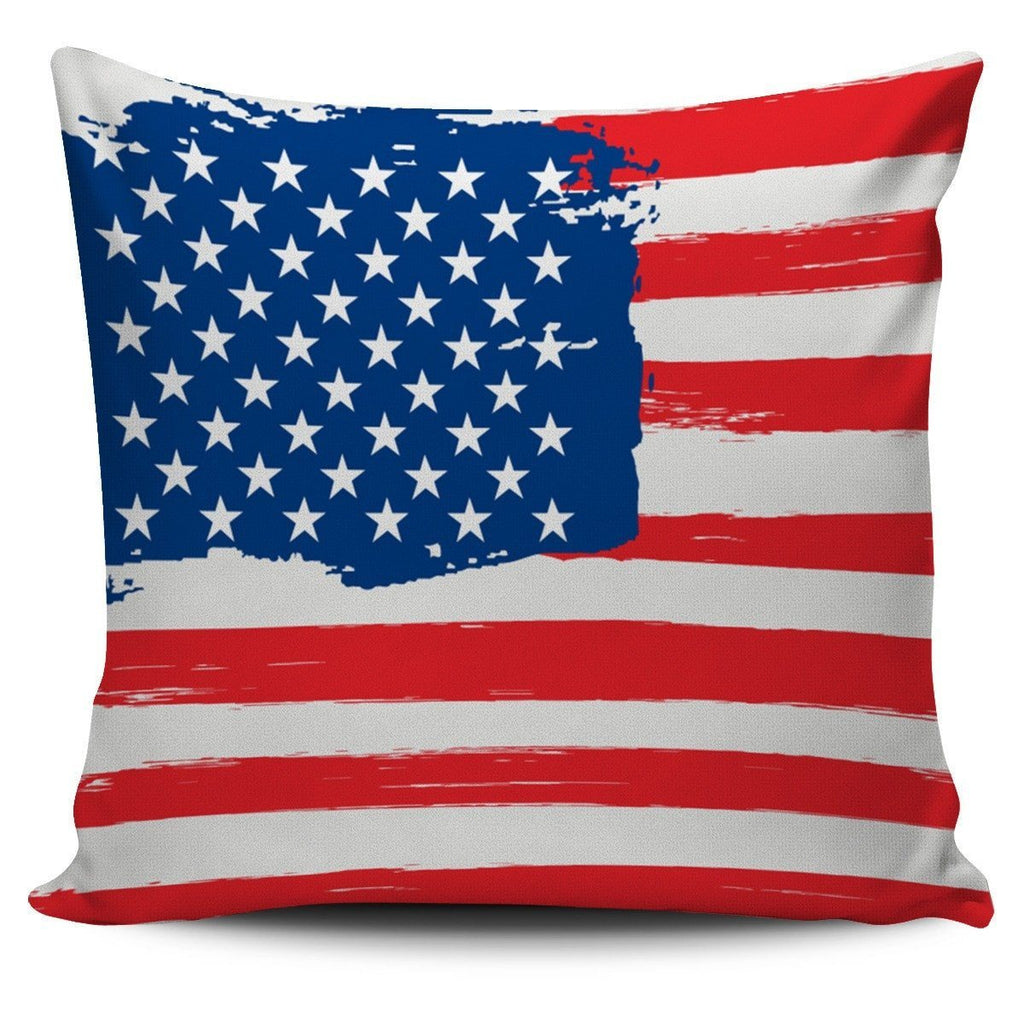 Old Glory Pillow Covers Patriot Pillow Case Morale Patch® Armory RW&B Distressed