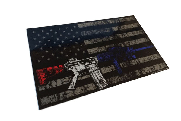 AR-15 American Flag Sticker/Decal Morale Patch® Armory
