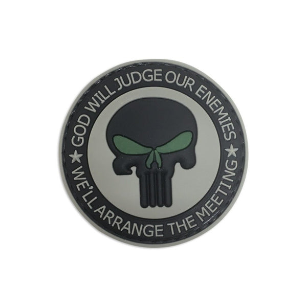 God Will Judge Our Enemies We'll Arrange The Meeting PVC Patch Morale Patch® Armory