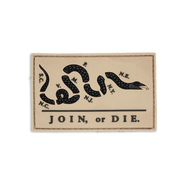 Join or Die PVC Patch Morale Patch® Armory Tan