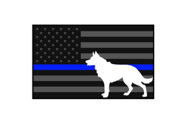 K9 Thin Blue Line Flag Sticker/Decal Morale Patch® Armory