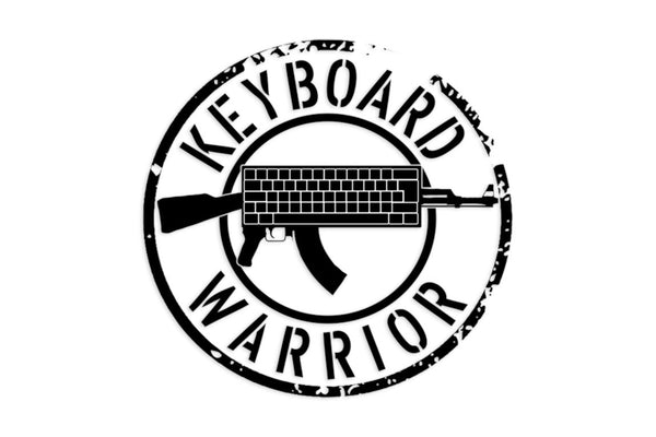 Keyboard Warrior Decal Sticker/Decal Morale Patch® Armory