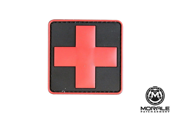 Medical/First Aid PVC Patch Morale Patch® Armory Black