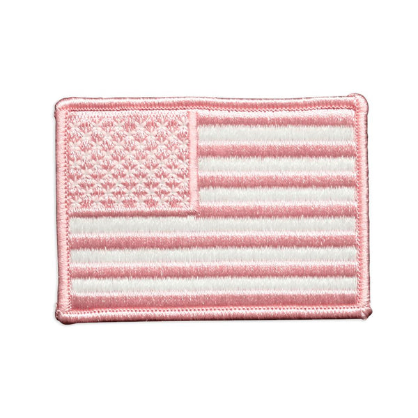 Pink US Flag Embroidered Patch Morale Patch® Armory