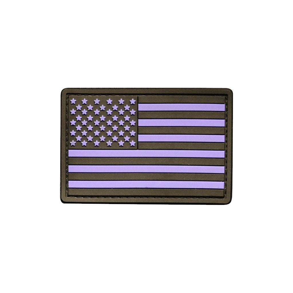 American Flag PVC PVC Patch Morale Patch® Armory Purple