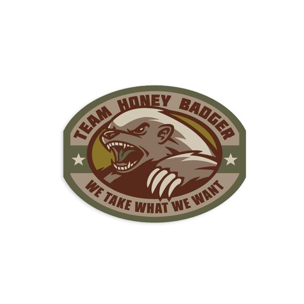 Honey Badger Decal Sticker/Decal Morale Patch® Armory Multicam
