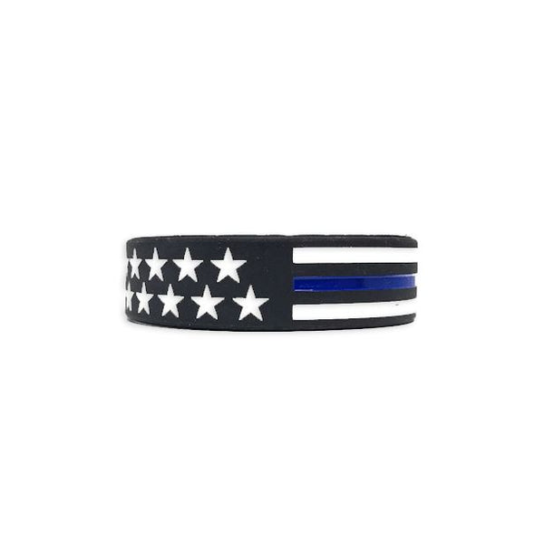 Thin Blue Line American Flag Bracelet Bracelet Morale Patch® Armory 1 Thin Blue Line