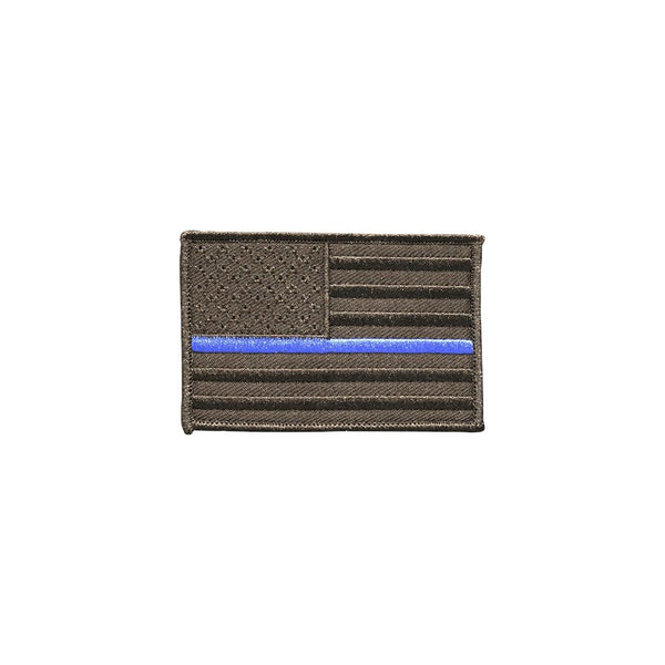 Thin Blue Line Blackout Edition Embroidered Patch Morale Patch® Armory