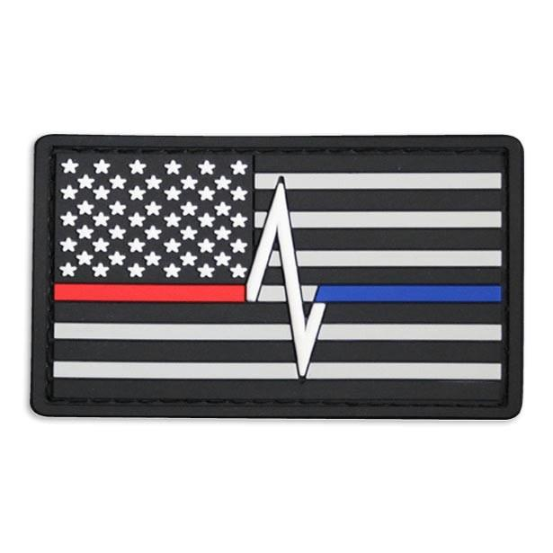 Thin Blue Line Red Line Flag Patch