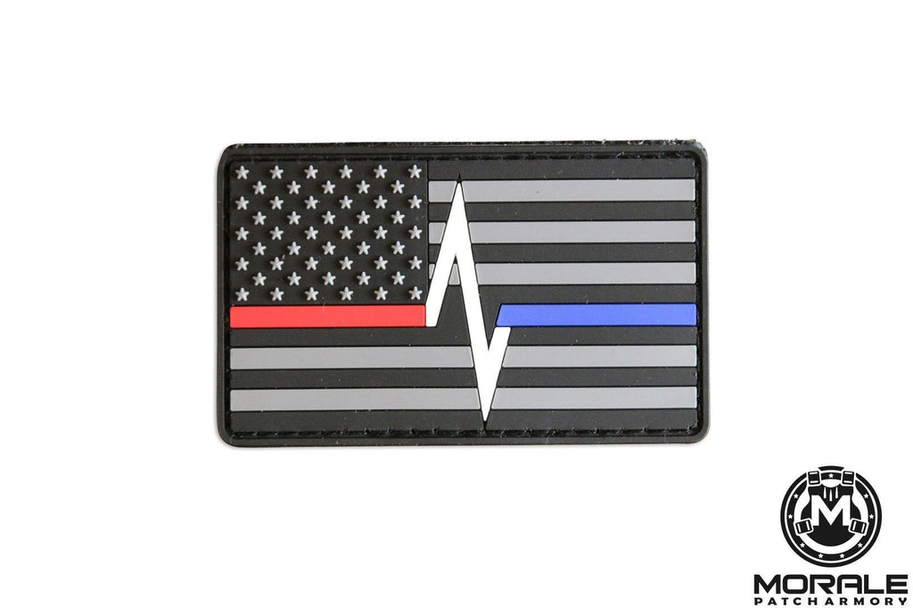 Thin Blue/Red Line Morale Patch