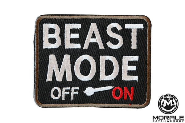 Beast Mode Embroidered Patch Morale Patch® Armory