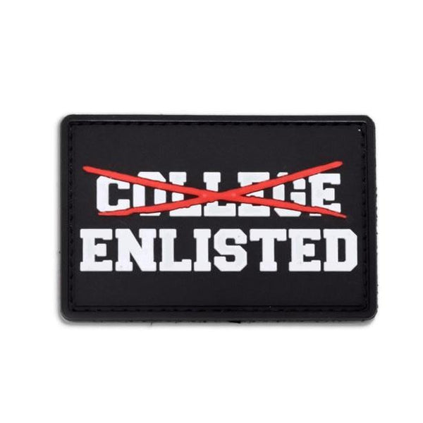 College Enlisted Morale Patch Black