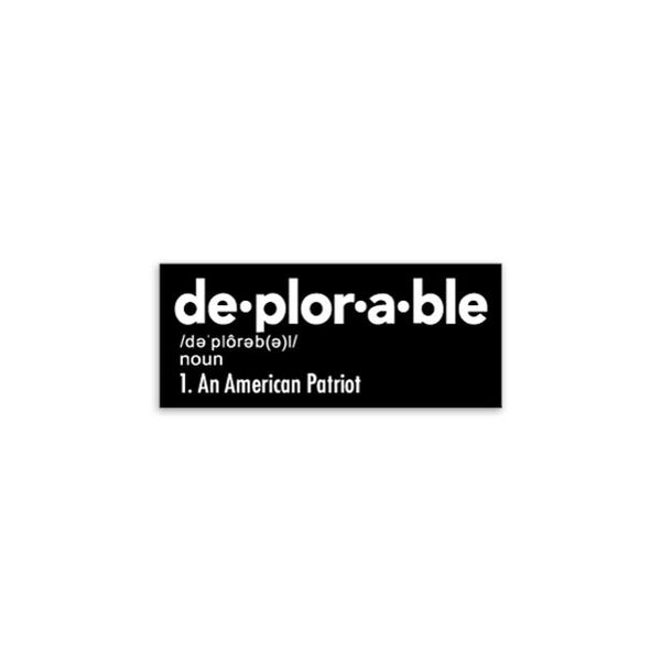 Deplorable Sticker Sticker/Decal Morale Patch® Armory