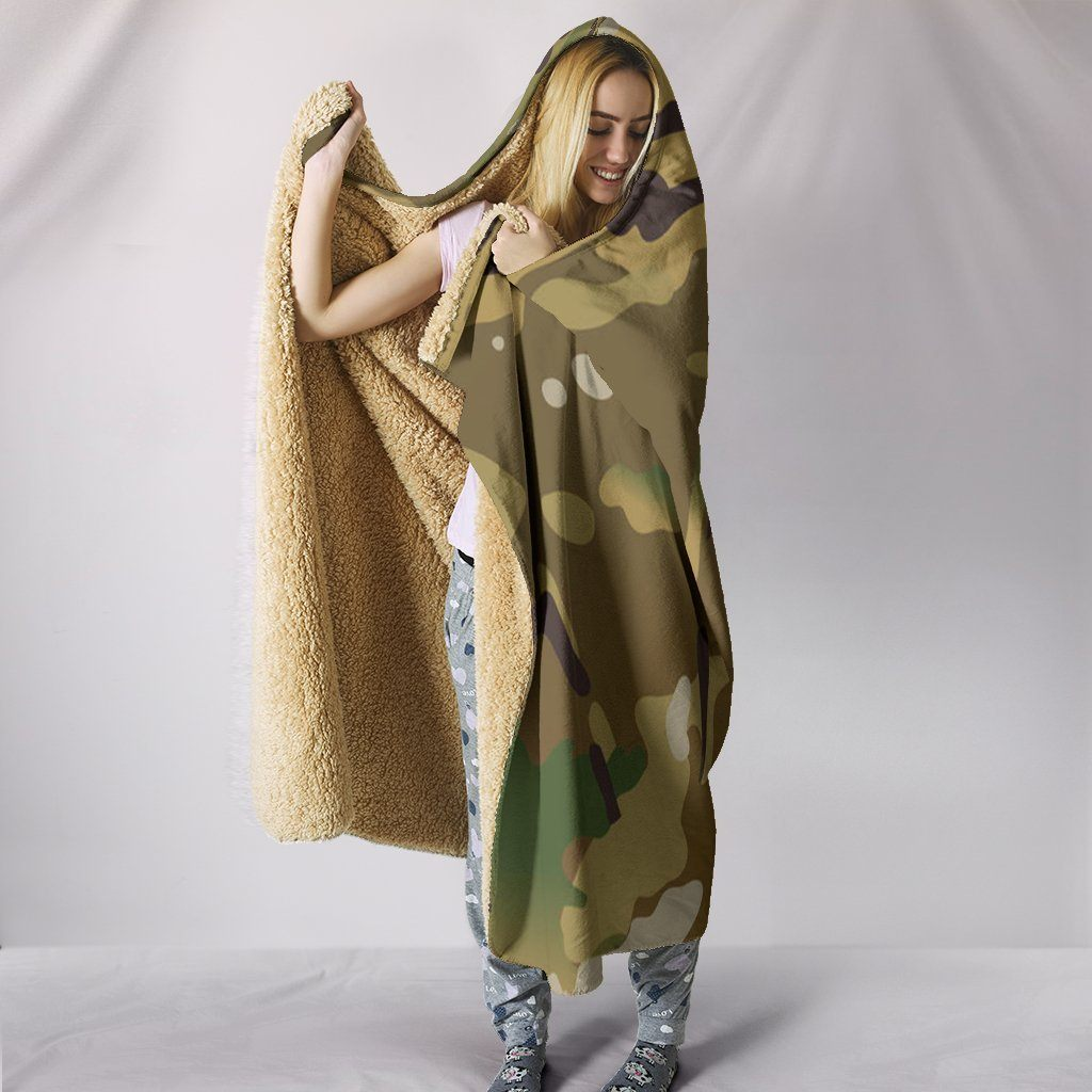 Multicam Hooded Blanket