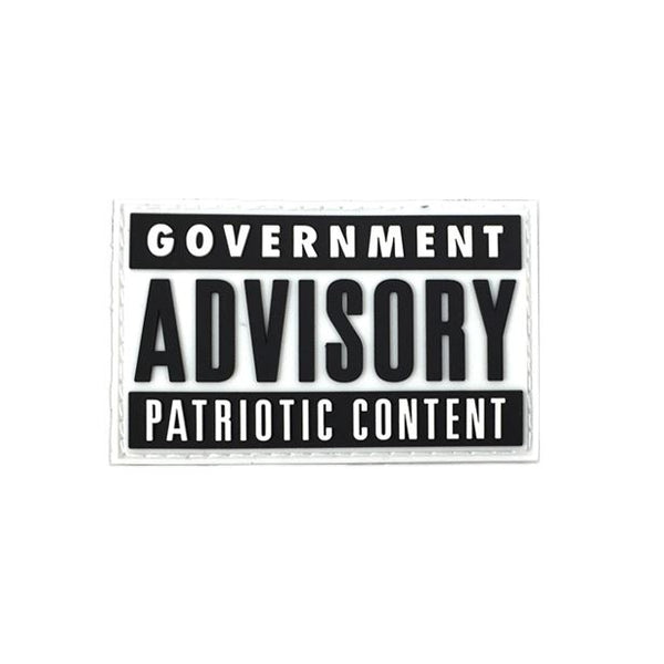 Government Advisory Patriotic Content PVC Patch Morale Patch® Armory