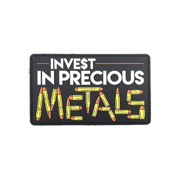 Invest In Precious Metals PVC Patch Morale Patch® Armory