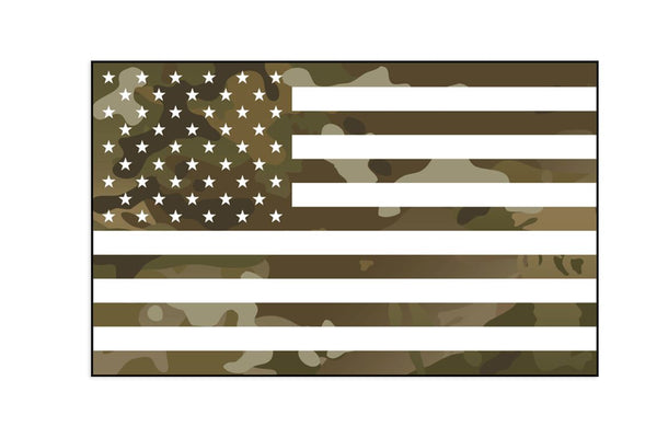Multicam US Flag Sticker/Decal Morale Patch® Armory