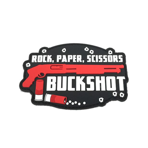 Rock, Paper, Scissors Buckshot PVC Patch Morale Patch® Armory
