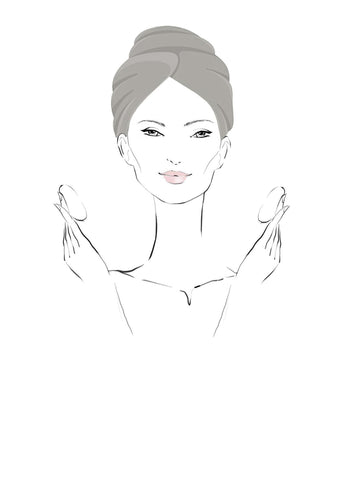 Remove Makeup Illustration Girl Skincare Moroccan Natural