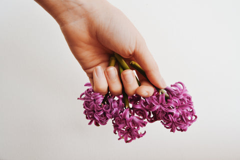 manicure, nails care, natural nails, natural manicure, flowers hands