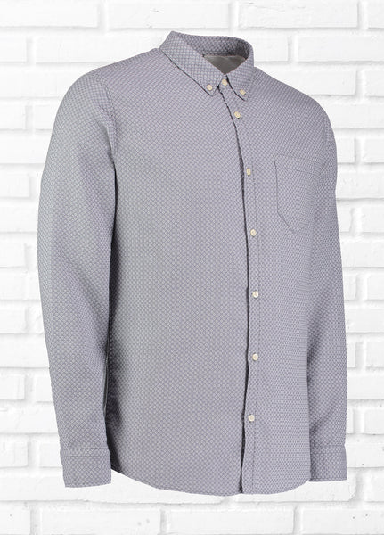 ASHES LONG SLEEVE JACQUARD SHIRT - GREY