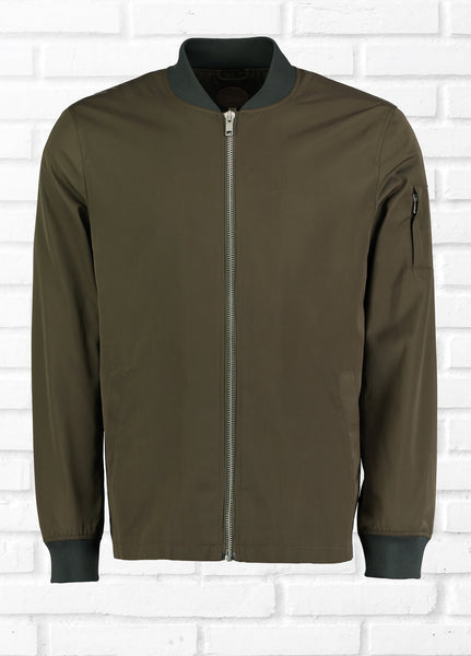 COMMON PEOPLE BASEBALL JACKET - OLIVE
