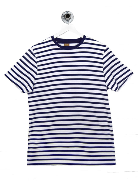 GENIE BRETTON STRIPE TEE - WHITE/NAVY