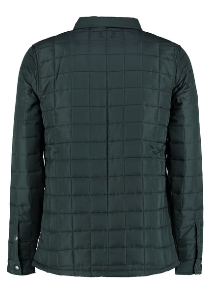 NICK DK GREEN QUILTED SHACKET