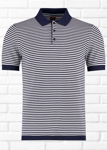 VALENCIA SS STRIPE KNIT POLO
