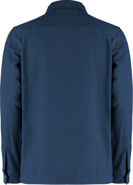 HAWKS L/S ZIP SHACKET - NAVY