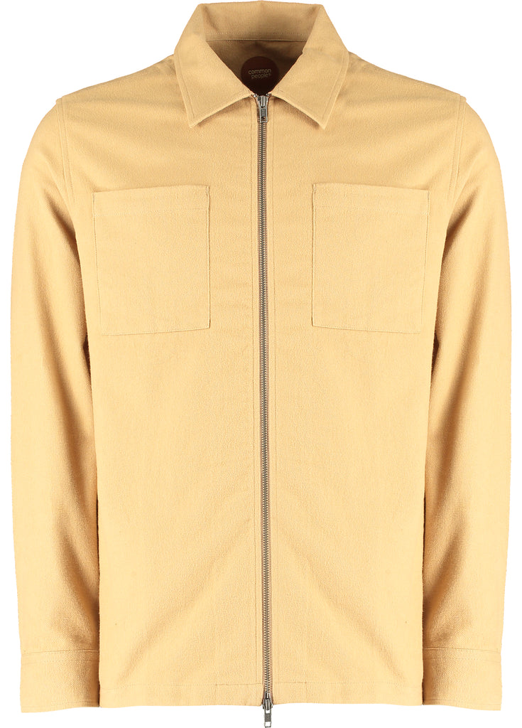 HAWKS L/S ZIP SHACKET - CAMEL