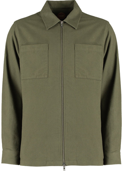 HAWKS L/S ZIP SHACKET - OLIVE