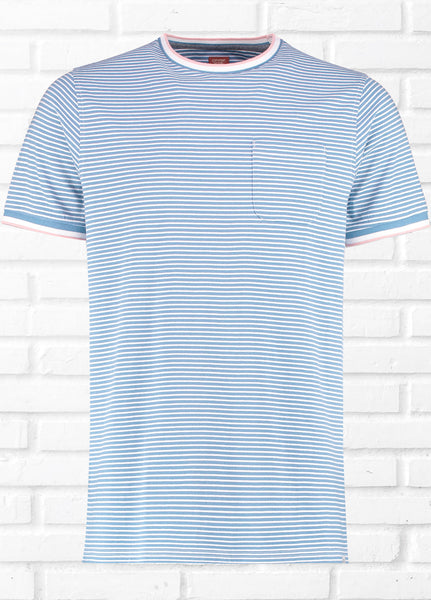 DAWLISH FINE STRIPE TEE
