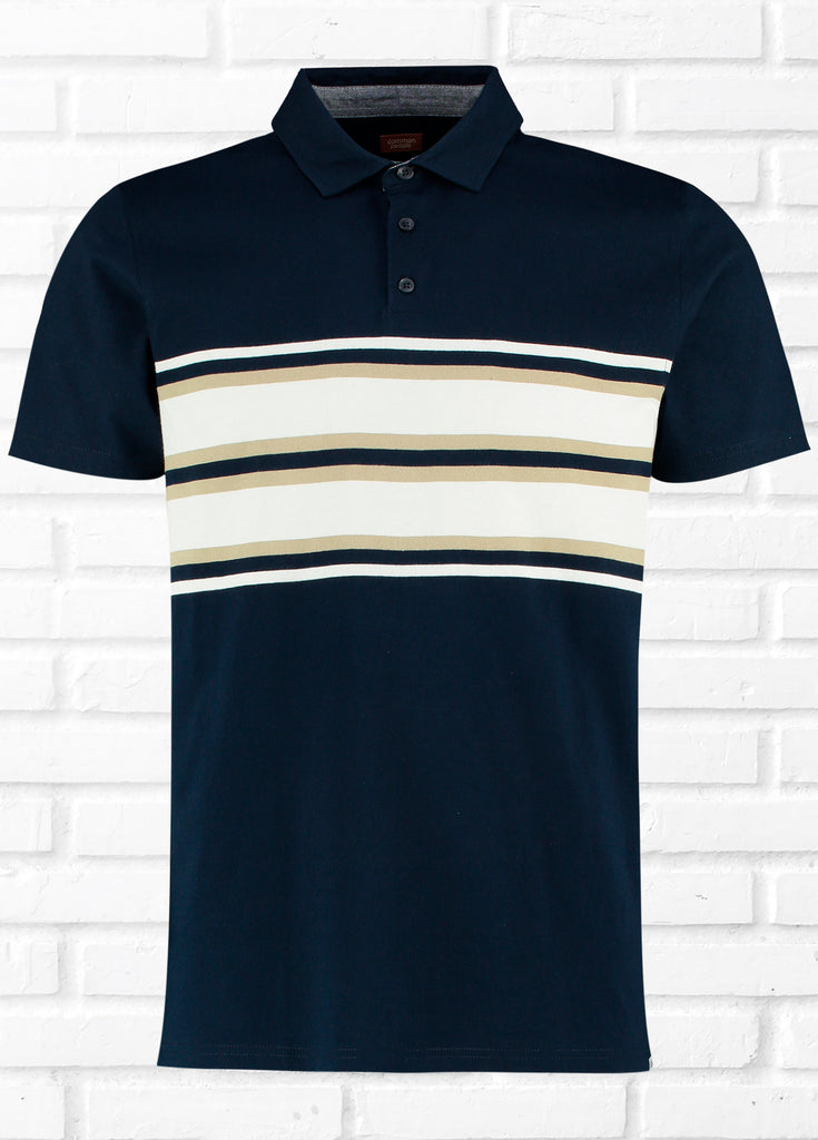SEATON CHEST STRIPE POLO