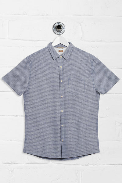 JAMESON JACQUARD SHIRT - BLUE