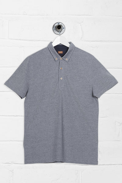 POWELL SHORT SLEEVE POLO SHIRT- NAVY