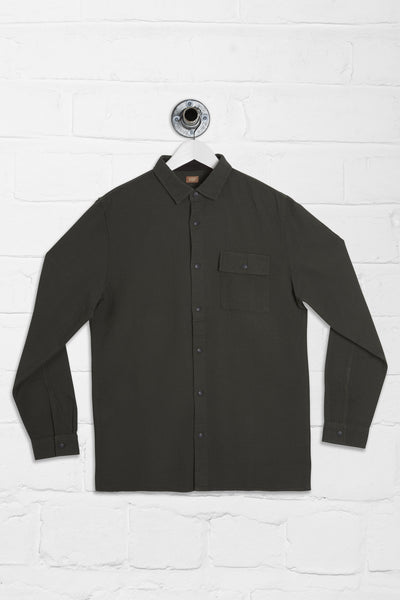 LONG SLEEVE WONDER OVER SHIRT - KHAKI