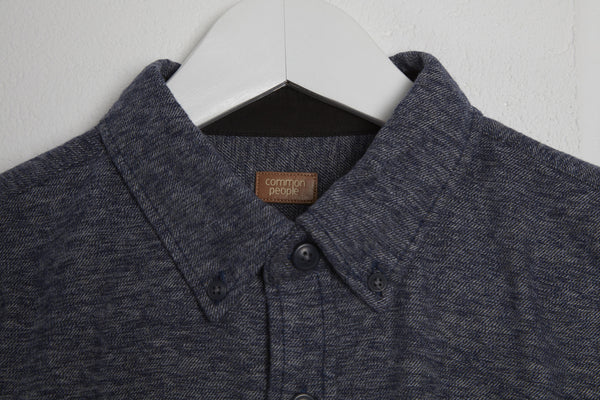 LONG SLEEVE LOW SHIRT - BLUE