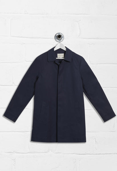INVERNESS LONG SLEEVE RAIN COAT - NAVY